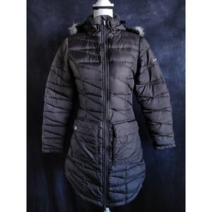 Columbia Brown Quilted Fur Hood Winter Parka XS